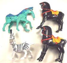 Lot of 4 McDonald's Horses- Talking Zebra, 2009 Avatar Lights Up, 2 Other Disney