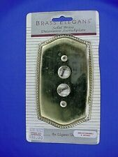 Victorian Single Gang Push Button Switch Plate Cover Polished Brass F6