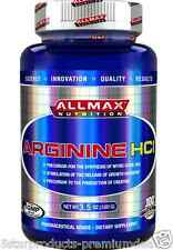 NEW ALLMAX NUTRITION ARGININE HCL AMINO ACIDS PRE WORKOUT FORMULA KOSHER VEGAN