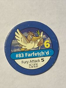 Pokemon Master Trainer Replacement Part Farfetch'd #83 Token Board Game 1999 POG