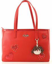 NEWT AUTH LOVE MOSCHINO JC4055PP17LF0500 RED SHOULDER TOTE  BAG