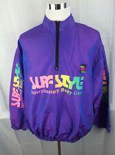 VTG Surf Style Windbreaker Jacket Iridescent Colorblock 90's Ski Coat 80's Large