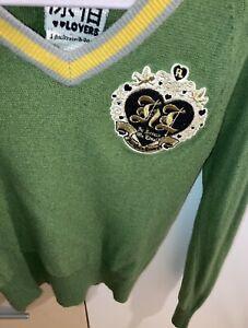 Harajuku Lovers Gwen Stefani V Neck Sweater Jumper RARE Medium M W/ Angora Wool