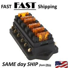 6 GANG fuse holder - auto boat car truck or other custom MOD - electrical