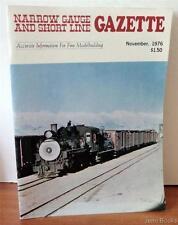 Narrow Gauge and Short Line Gazette Nov. 1976 Vol. 2, # 5 D&RGW Long Cabooses VG