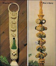 Hanging Wine & Spice Rack Patterns - Craft Book: #7457 Kitchen Knottery