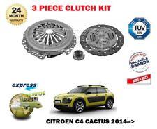PER CITROEN C4 CACTUS 1.2 VTi 1.6 HDi 2014-> NUOVO Kit frizione 3 pezzi