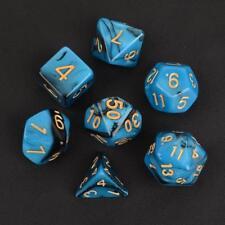 7pcs D&D Dice Set D4-D20 Polyhedral TRPG Games Dungeons & Dragons Blue Nebula