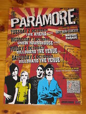 PARAMORE - 2007 RIOT Australian Tour - Laminated Promotional Poster
