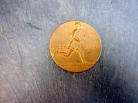 wunderschöne alte Bronze Medaille Leichtathletik Sport 400m Coblenz 1926