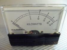 Bird Thruline 100 Ua Wattmeter Meter Face Aftermarket