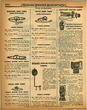 1926 PAPER AD Newhouse Steel Trap #5 #6 Grizzly Black Bear Press Button Knife