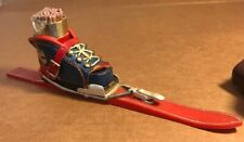 Miniature Replica Garmisch Ski Boot And Ski Fireplace Mantle Match Kit
