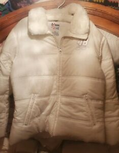 NASCAR Chase Authentics Womens Puffer Coat #48 Jimmie Johnson Ivory XL