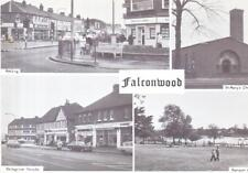 Old postcard : Falconwood with Church, Bellegrove Parade, Danson Park & Welling