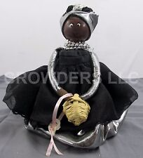 "Charleston SC Handmade African 7.5"" Aroma Doll Black Dress by Dorothy Talley '07"