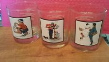Norman Rockwell Arby's Pepsi Glasses Set Of 3