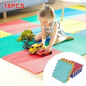 18 Large Soft Foam EVA Kids Floor Mat Jigsaw Tiles Interlocking Garden Play Mats