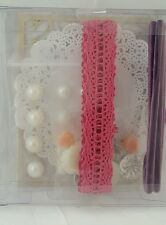 Stampin Up New Accessories ribbon rose panels pearls Doilies