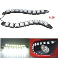 Top 2Pcs Car 9LED Daytime Running Light DRL Auto Fog Day Driving Lamp White DC