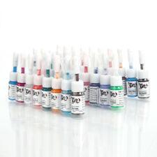 Pro 28 Colors Tattoo Makeup Ink Pigment Supplies Set Kit 5ml/bottle