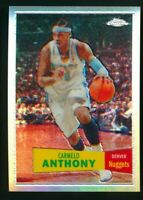2007-08 Carmelo Anthony Topps Chrome Refractor #15 1957-58 Variation /999 Rare