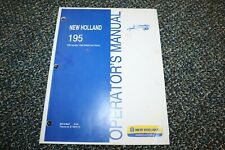 Used New Holland 195 Manure Spreader Operator Manual Free Shipping
