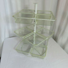 Three Tier Counter Top Display Rack Organizer 12-Sections Liners 22 x 13 x 13