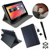 """100% Real Leather 10.1"""" Tablet Book Stand Case Cover For Sony Xperia Tablet Z SG"""