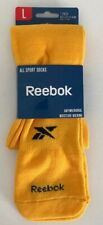 Reebok Gold Yellow All Sports Socks Soccer Softball Baseball 8-13 mens