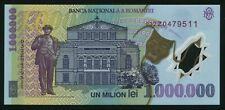 u991 ROMANIA 1000000 LEI 2003 P#116 POLYMER NOTE * Z * serial UNC