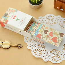 52pcs/box DIY Kawaii Sticker Vintage Sticky Paper for Scrapbooking Decoration FO