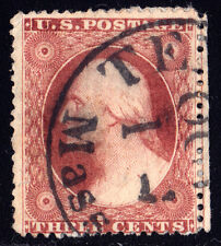 #26A - 3 Cents 1857, 30L11e, Chase-plated w/centerline at Right, Brwn Carm shade