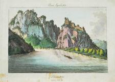 c1810 Dürnstein Donau Wachau Kolorierte Kupferstich-Ansicht
