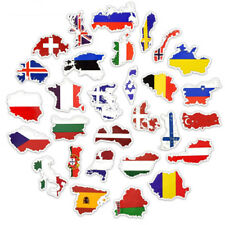 50Pcs National Flags Stickers Countries Map Travel Sticker DIY Laptop Suitcase