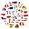 50Pcs National Flags Sticker Countries Map Travel Stickers DIY Suitcase Laptop