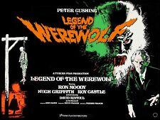 LEGEND OF THE WEREWOLF 1975 repro UK quad poster Tyburn Peter Cushing FREE P&P