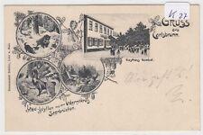 797, MB Litho Carlsbrunn Saarbrücken Jagd, Gasthaus gelaufen 1906 !