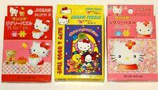 Hello Kitty Jigsaw Puzzles Lot of 3 Sanrio 60 - 80 pcs Vintage Japan