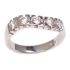 Anillo compromiso de oro blanco 18 ct con diamante talla 16 brillante para