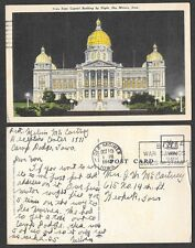 1943 Iowa Postcard - Capitol - Military Free Franking from Fort Dodge