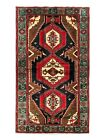 Hand Knotted Navy Blue Red Tribal Tarom Birds Nomadic Wool Oriental Rug 4 x 7
