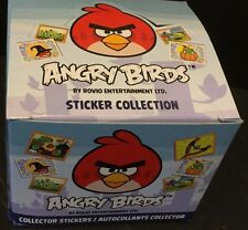 ANGRY BIRDS Sticker BOX of 50 PACKS New By ROVIO 400 Stickers in each BOX! HTF!!