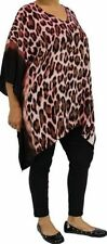 Regular Animal Print Tunic Batwing, Dolman Women's Tops & Blouses