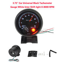 Universal 3.75'' Car Tachometer Tacho Gauge  0-8000RPM ABS Meter LED Shift Light