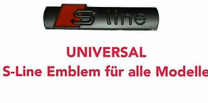 Audi 2x S-Line Emblem Schriftzug Kotflügel Schwarz Matt Logo Badge Aufkleber