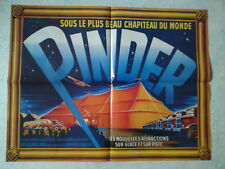 Affiche collection cirque Pinder le chapiteau