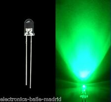10x ULTRA BRIGHT LED GREEN WATER CLEAR 3mm FOR BOSS IBANEZ KEELEY LEDS VERDE