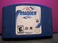 Madden NFL 2001  (Nintendo 64, 2000)CARTRIDGE ONLY