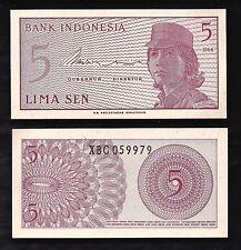 Indonesia 5 Sen 1964 REPLACEMENT Note @ UNC